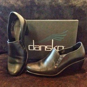 Dansko Raphael Black Leather Calf Heel, Sz 9